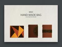 Handmade bag designed by illustrator
