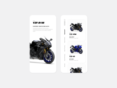 Yamaha motor sports- app concept bike ride app kit sketch mobile app ui design template mobile app design ui