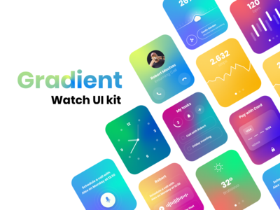 Gradient-watch UI kit