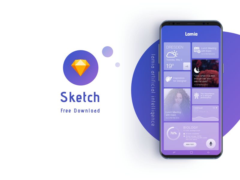 Lamia Artificial Intelligence App Concept Free Sketch Template By Shadhin On Dribbble