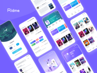 Ridme book reader app concept