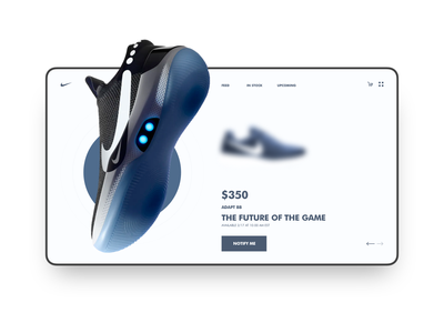 Nike- The future of the game landing page landing page concept landing page website sketch design ui