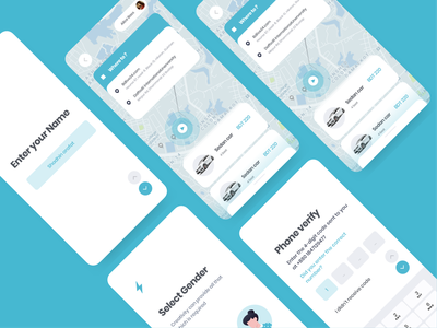 Ride Share App ux ola lyft uber cab booking rideshare mobile sketch design