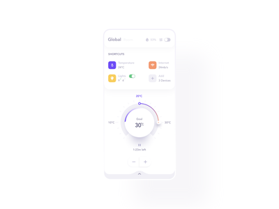 Smart Home App app mobile ui