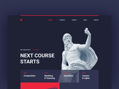 Creative landing page template website typography branding illustration design ui ux sketch creative creative design