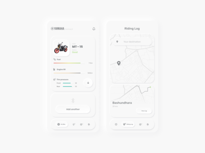 bike health tracker | Neomorphism neomorphism mobile ux template illustration website flinto app sketch design ui