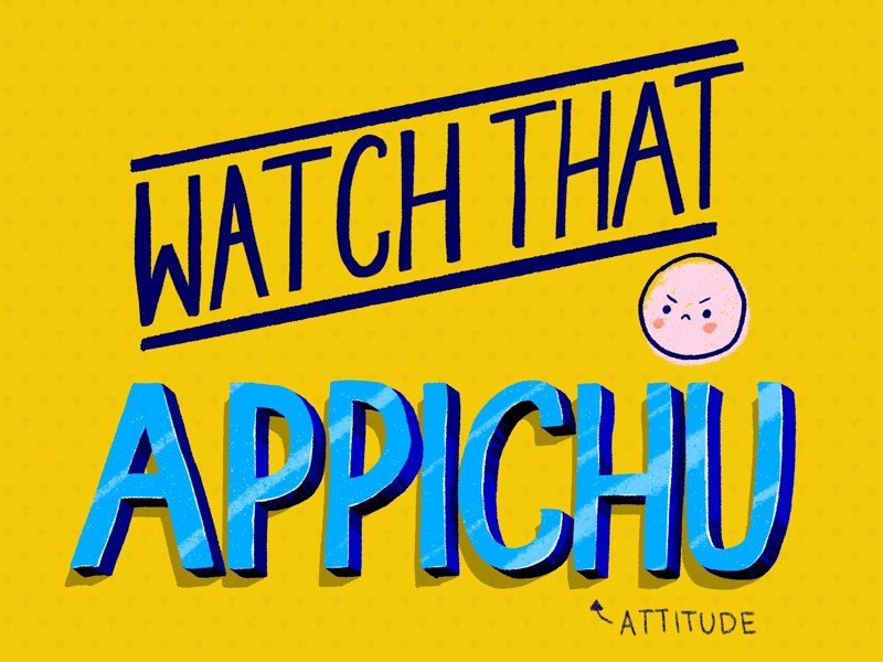 Watch that Appichu hand lettering lettering