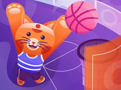 We're landed! basketball player basketball illustrations mascot character mascot design mascot first shot dribbble hello dribbble design agency agency branding illustration design