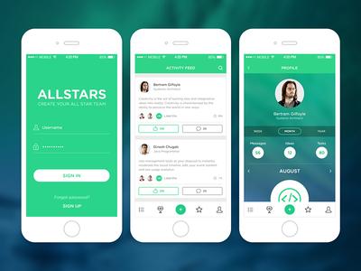 All Stars Team Application