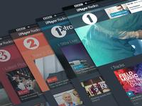 iPlayer Radio Network Branding branding visual design design ux bbc radio