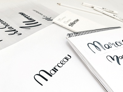 Marceau Logo Sketches