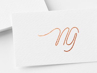 NG - Nail Artist Logo logotype typography handlettering emblem calligraphy letters lettering branding logo