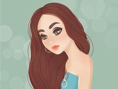 Julz's Portrait art cartoon draw female woman girl illustration character portrait beauty procreate