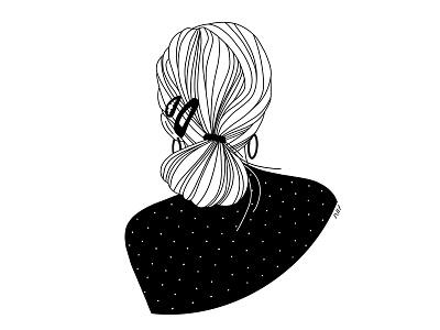 Style Guide nessa minimal art line illustration lineart linework hairstyle stylist style fashion fashion illustration beauty portrait character girl sketch illustration