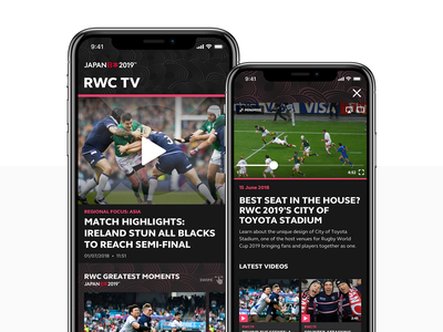 Rugby World Cup 2019 App Pt.2