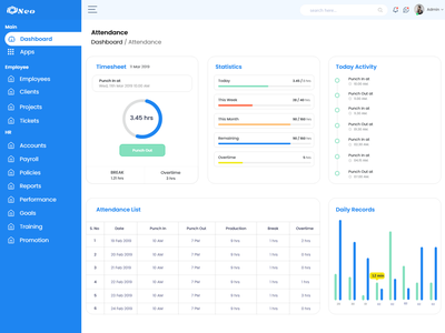 Attendance Management System Dashboard icon typography ux minimal inspration animation book appointment flat design ui branding graphic design