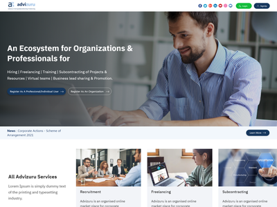 Job Portal System design ui app flat consultancy branding book appointment