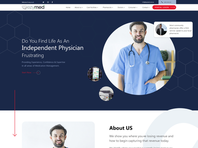Doctor Portal design animation flat vector illustration ui consultancy branding book appointment