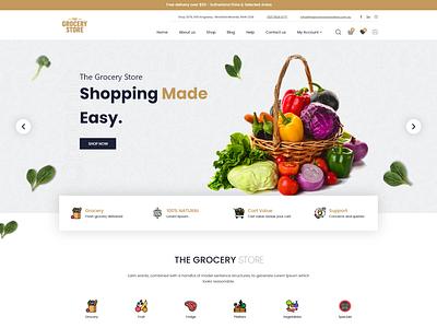 Grocery Store vector logo illustration flat ui consultancy branding animation design