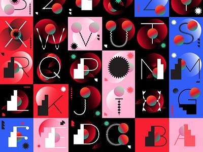 2021 custom type geometry typography custom font custom type type design flat pink vector illustration