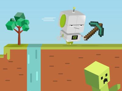 EasyPeasy Coding Minecraft Style - Detail