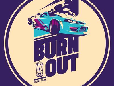 Street Racing t-shirt racing street sportcar logo illustration emblem drive drift creative market car badge
