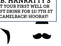 MOUSTACHE PARTY! On the back of every ticket.