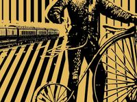 bike and light rail themed