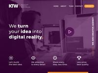 Kreative Trends Worldwide - Website Landing Page