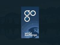 Daily Ui // World Exchange Mobile Splash Screen