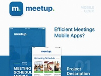 Mobile Ui // Meetup - Meeting Schedule Mobile Apps
