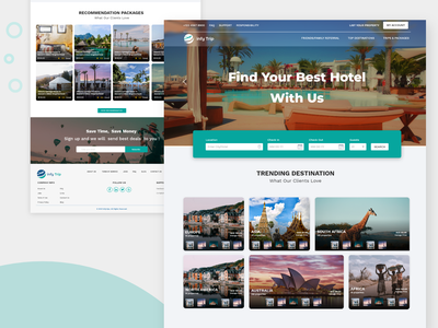 Hotel Booking Web site home page design