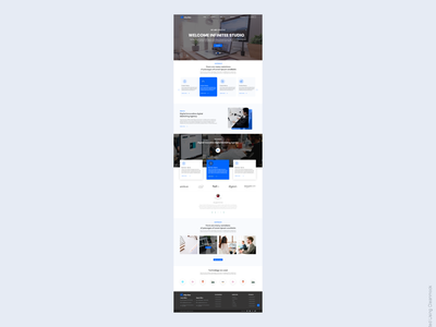 Digital Agency home page- Infynitee ux home screen design branding ui landing page home page company website home page design