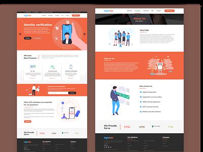 Digital Company Home page design home screen home page landing page company website home page design
