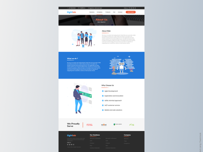 About Us page what we do about us of company company page website webdesign about us page