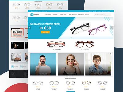 Eyewear e-commerce platform landing page home page home page design company website eyeglass ecommerce page eyeglass ecommerce page