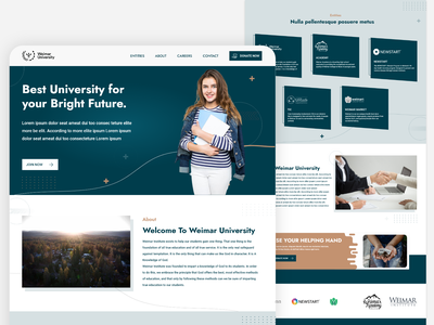 University Landing page home page design