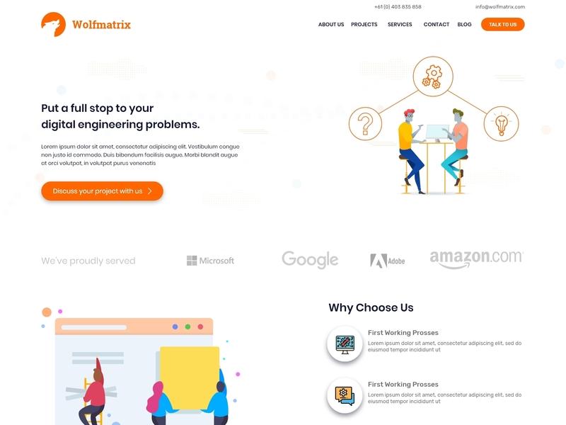 Company Landing page modern design home page home page design landing  page landing page design it company