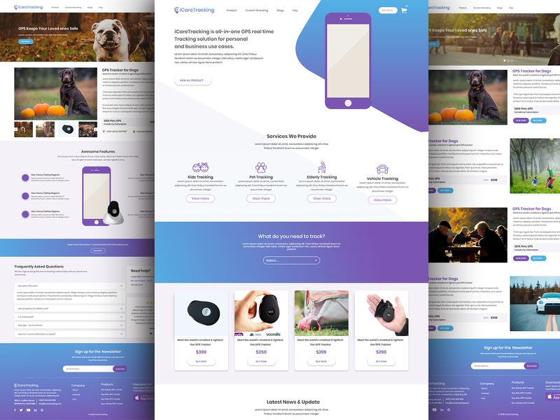 Modern Landing page user experience design uuux tracking company tracking company website homepage landing page