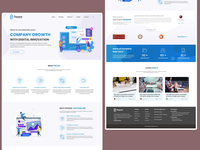 Home page of the company web site.