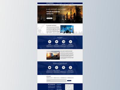 Company website home page design company website