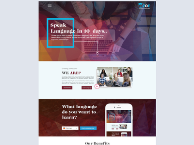 Language Consultancy website. company website homepage language consultancy website