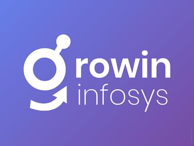 Growin infosys Logo logo 2d logo desig it company logo logo