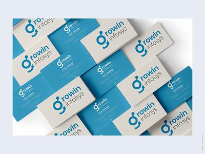 Visiting card of Growin Infosys visiting card presentation logo visiting card of growin infosys