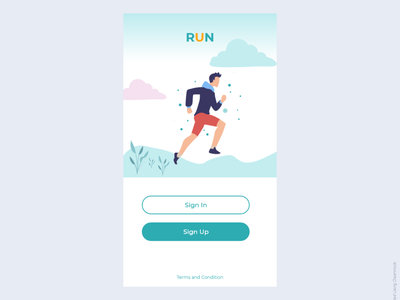 Login page of running app running app login form login page login page design