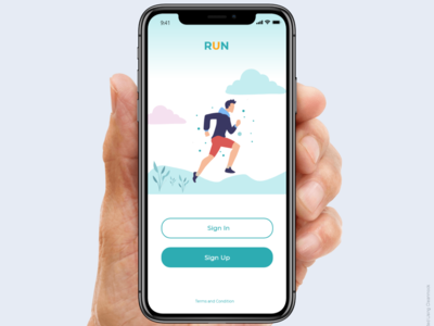 Login page of running app