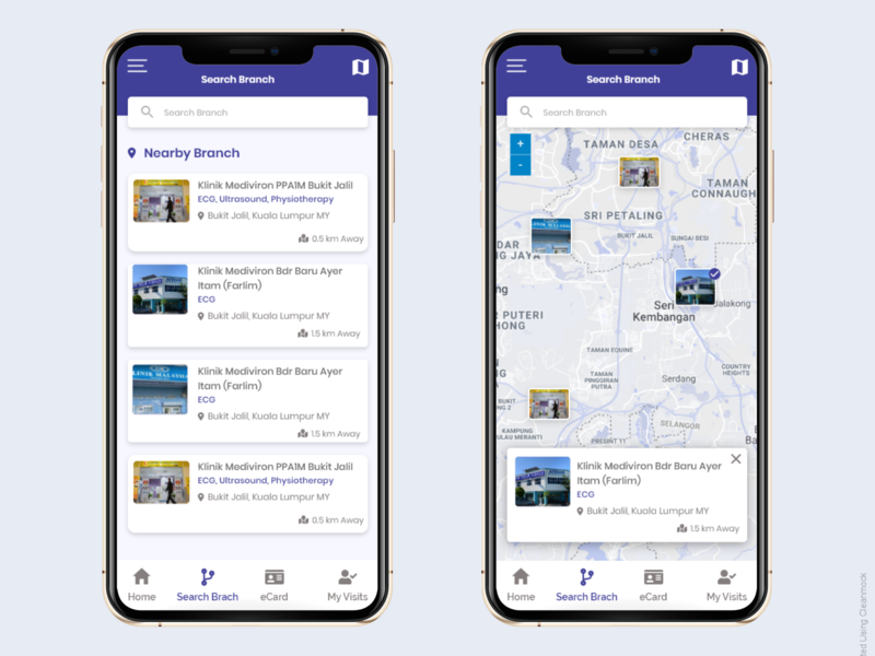 Map View and List view list view list map map view and list view