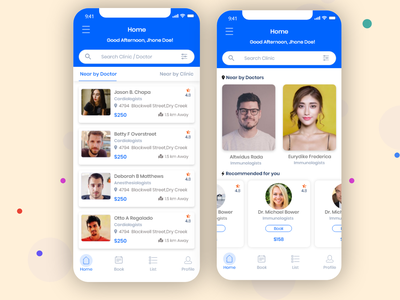 Doctor Appointment App design doctor appointment app