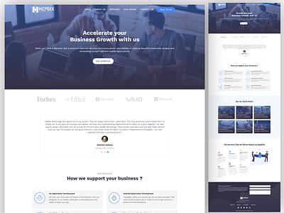 Digital Agency Landing page Design V2 dashboard landing page company website home page home page design