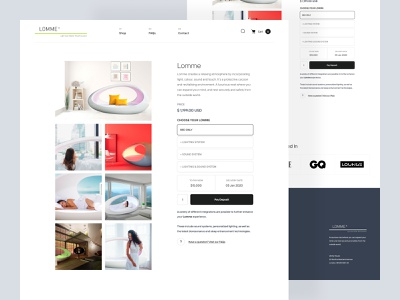 Lomme - a luxurious nest product page 🍃 design ui user interface site charm calm sleep nap nest bed clean nature relax product page product landingpage landing page landing website web